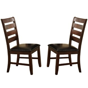 Clio Ladder Solid Wood Dining Chair (Set of 2)