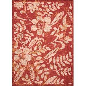 Adamov Florals Red Indoor/Outdoor Area Rug