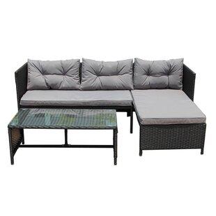 Genial Eleonora Rattan Wicker Indoor/Outdoor Patio Sectional With Cushions