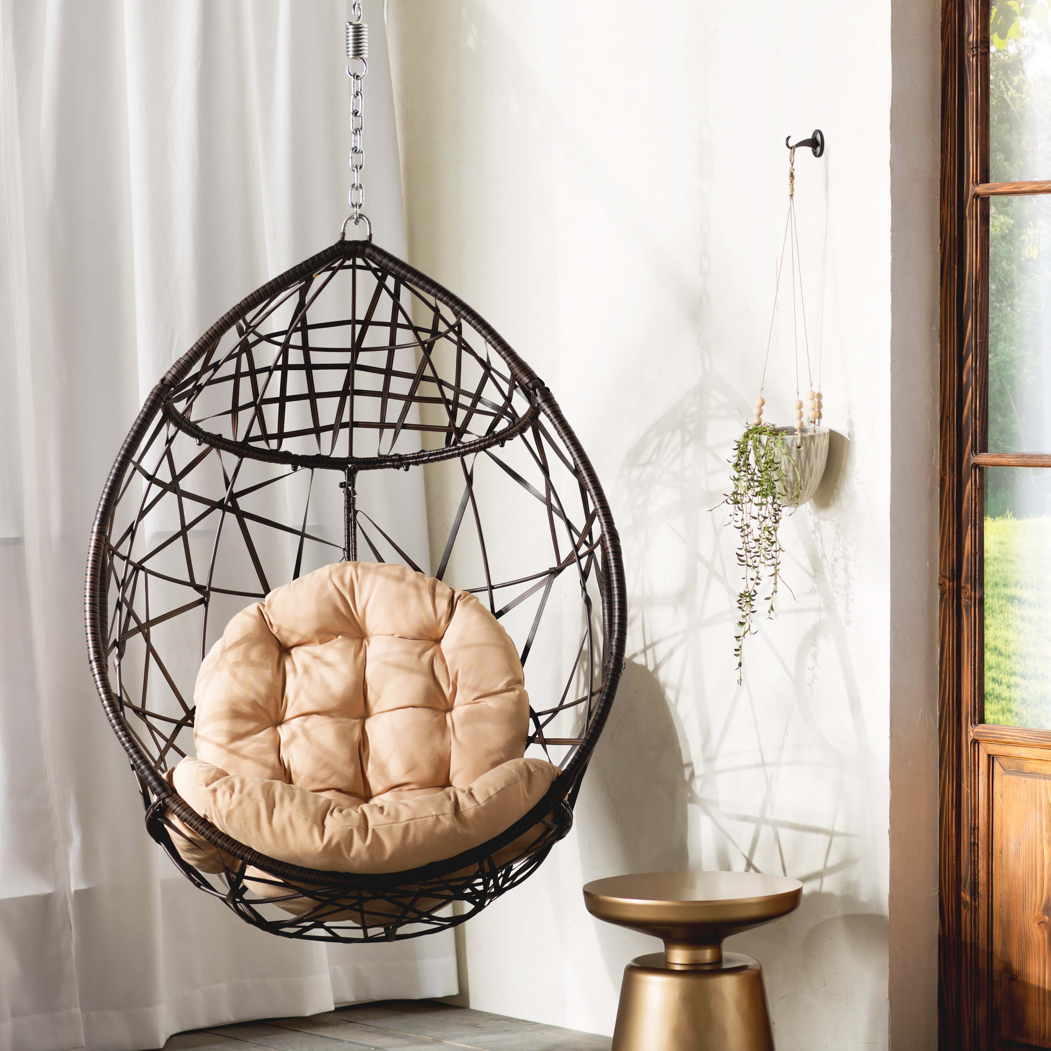 Mistana Destiny Tear Drop Swing Chair With Stand U0026 Reviews | Wayfair