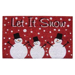 Super Scraper Let It Snow Door Mat