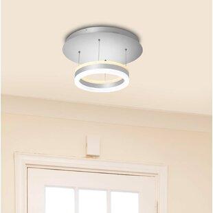 Remote control ceiling light wayfair evelyn led 1 light semi flush mount aloadofball Gallery