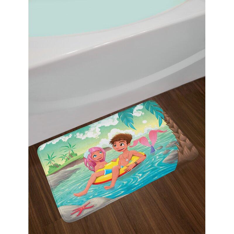 East Urban Home Teen Mermaid Bath Rug Wayfair