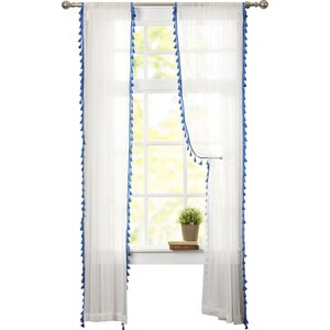 Priscila Solid Sheer Rod Pocket Single Curtain Panel