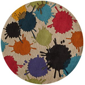 Felicia Hand-Tufted Brown/Blue Kids Rug