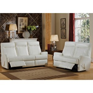 Amax Toledo 2 Piece Leather Living Room Set