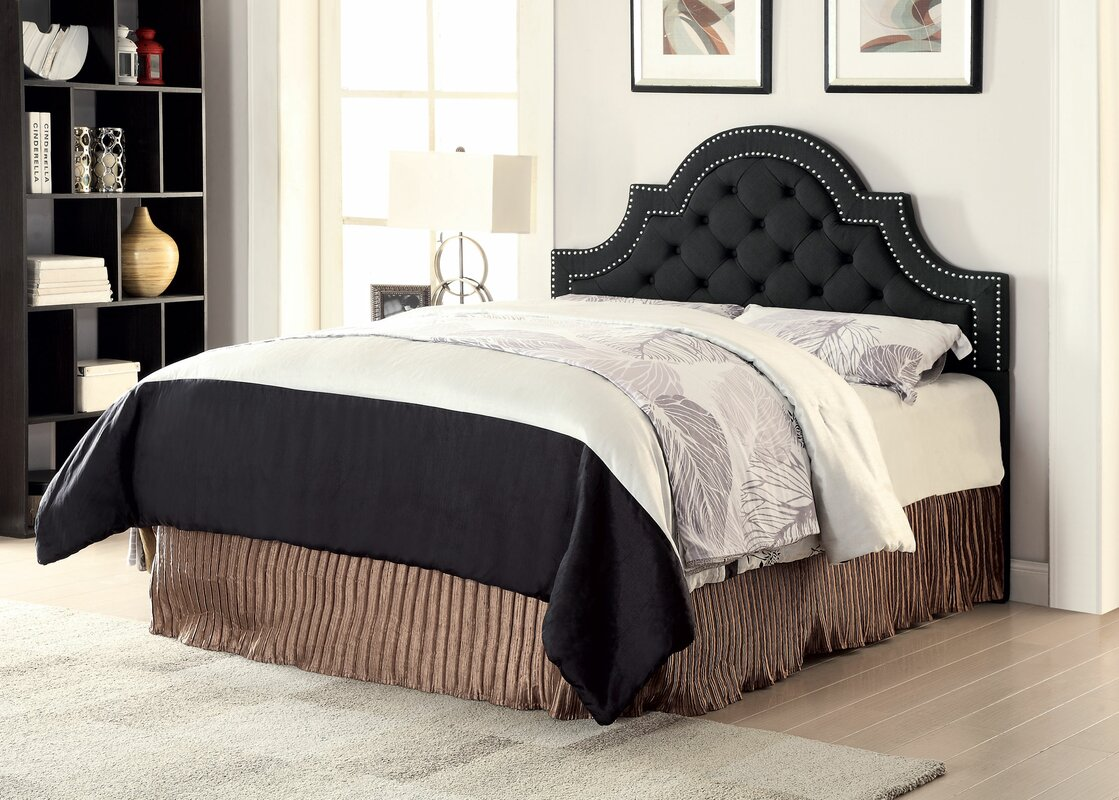 Wayfair Upholstered Bed Home Wayfair Upholstered Bed King: Darby Home Co Catania King Upholstered Panel Headboard