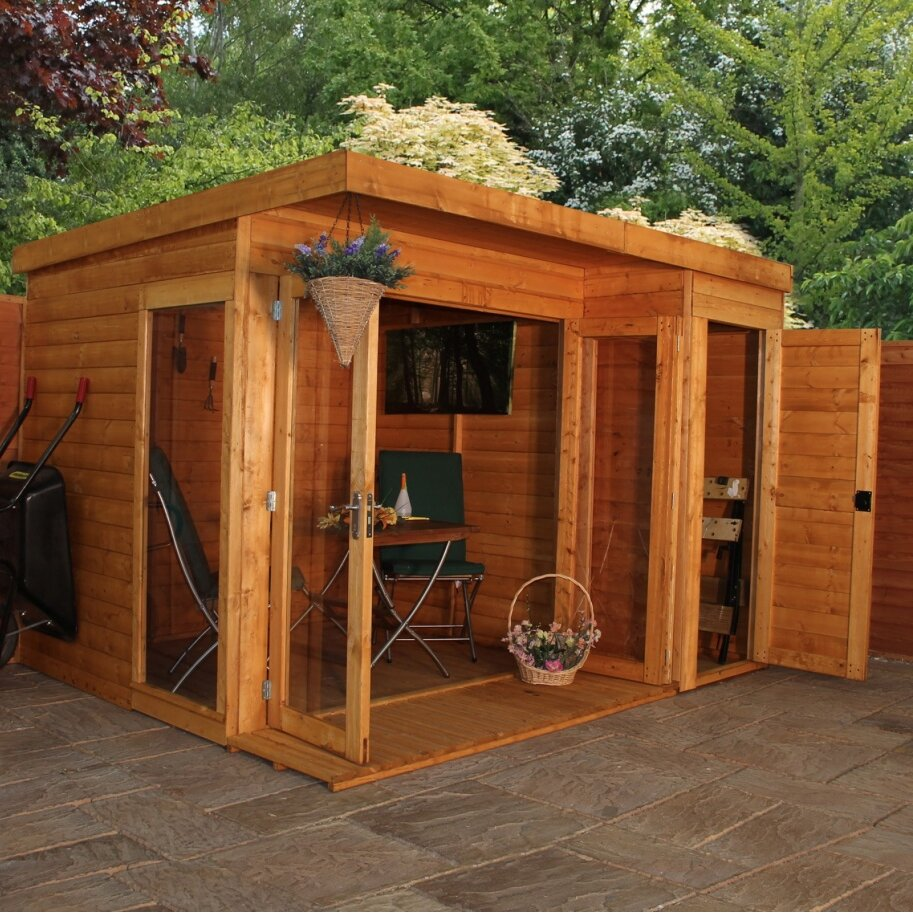 Mercia garden products 10 x 8 summerhouse for Two room garden shed