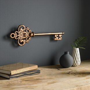 Large metal key wall decor