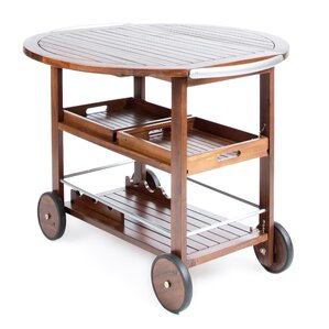Kaing Wood Bar Cart by Loon Peak