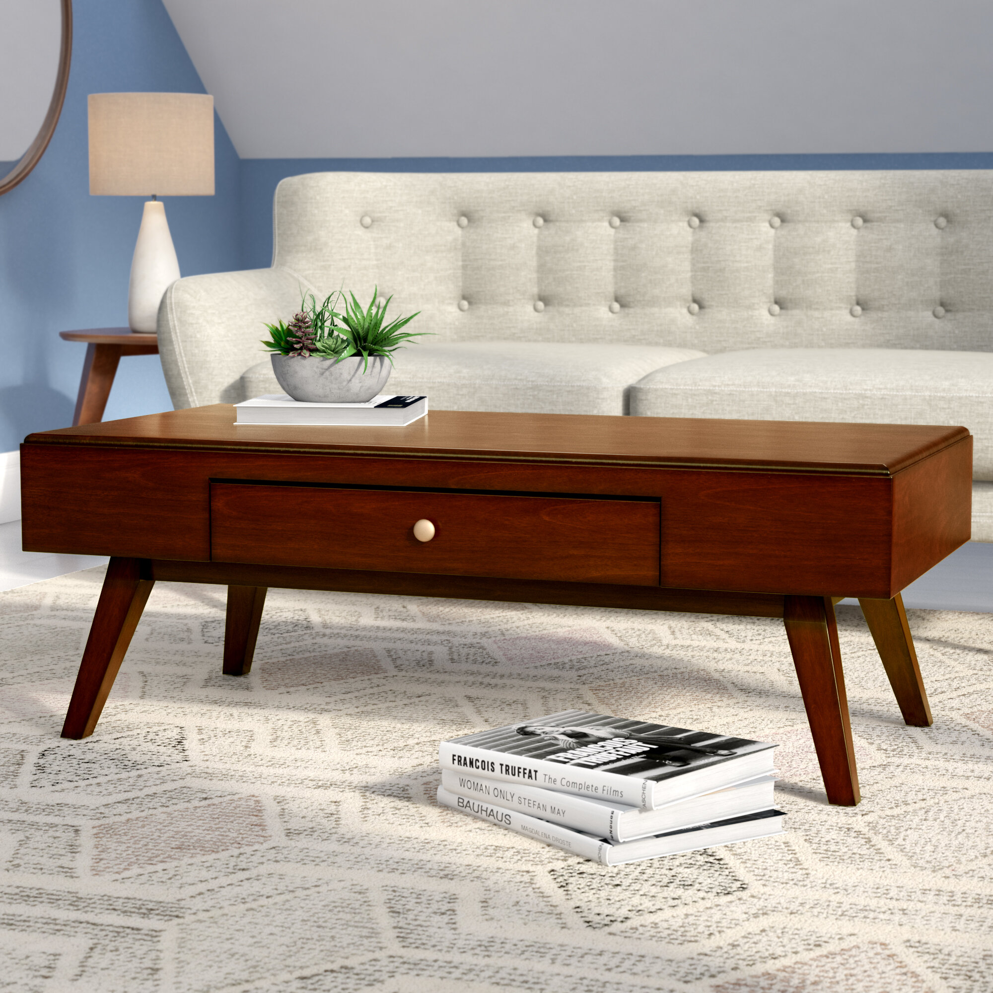 mid century coffee table Langley Street Gordon Midcentury Coffee Table | Wayfair mid century coffee table