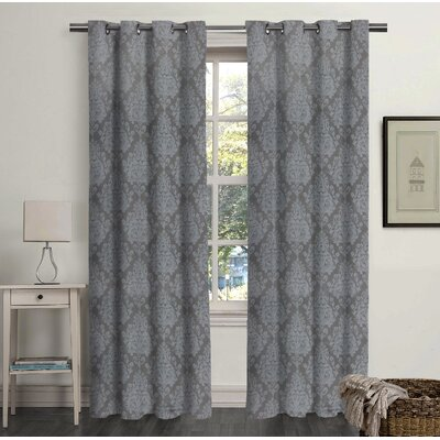 carnside damask blackout grommet curtain panel set of 2