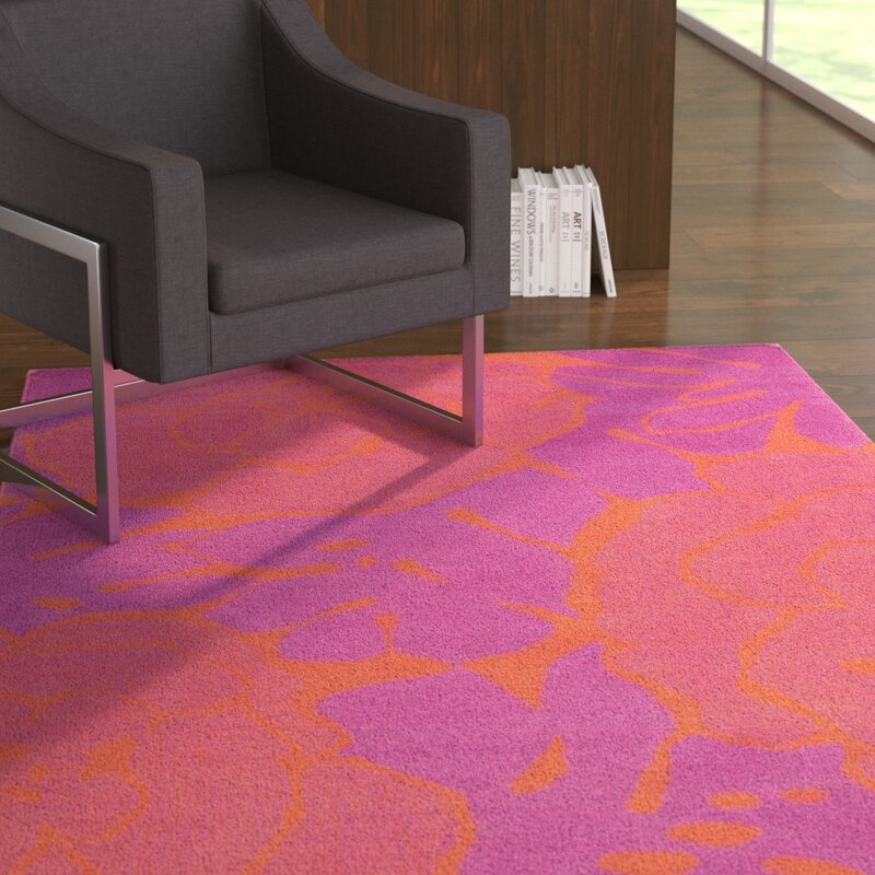 Latitude Run Abigail Hot Pinkcoral Area Rug Wayfair