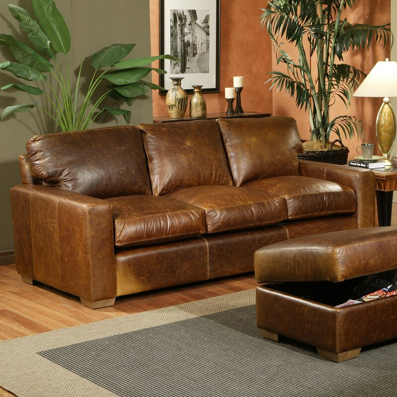 Omnia Leather City Craft Leather Sofa & Reviews | Wayfair