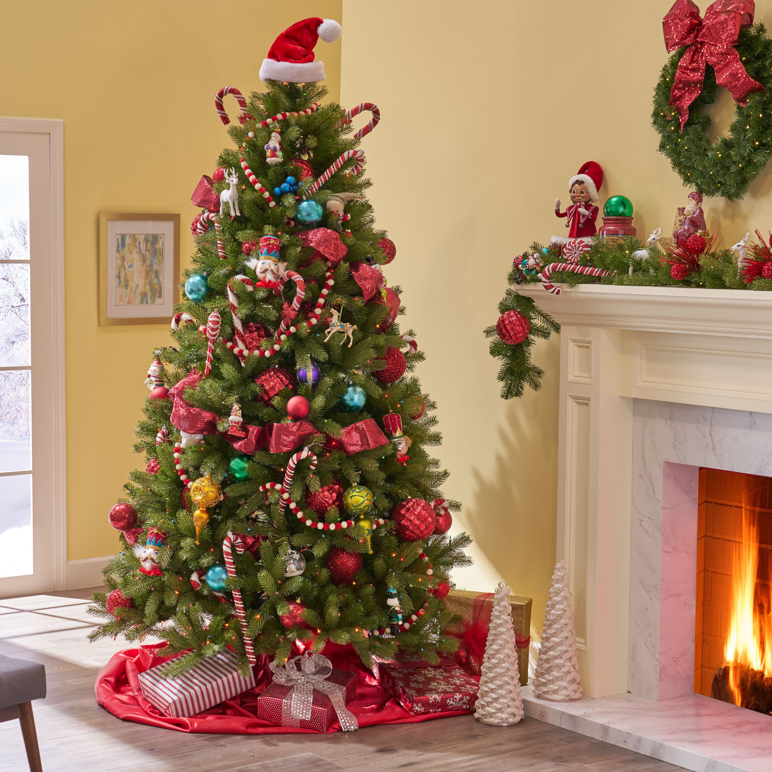 The Holiday Aisle 7.5' Green Spruce Artificial Christmas Tree with ...