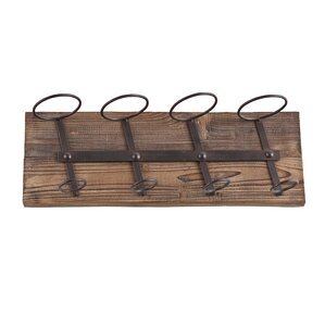 Schumann 4 Bottle Wall Mounted Wine Rack by Laurel Foundry Modern Farmhouse