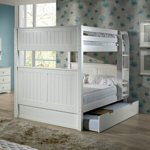 Amani Traditional Full Over Full Bunk Bed with Trundle by Viv + Rae