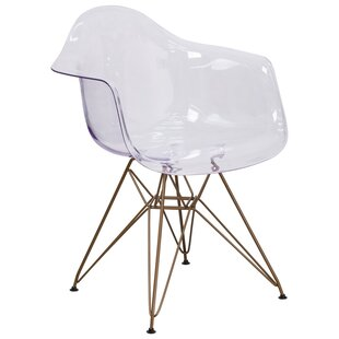 Curved Transparent Arm Chair (Set of 2)