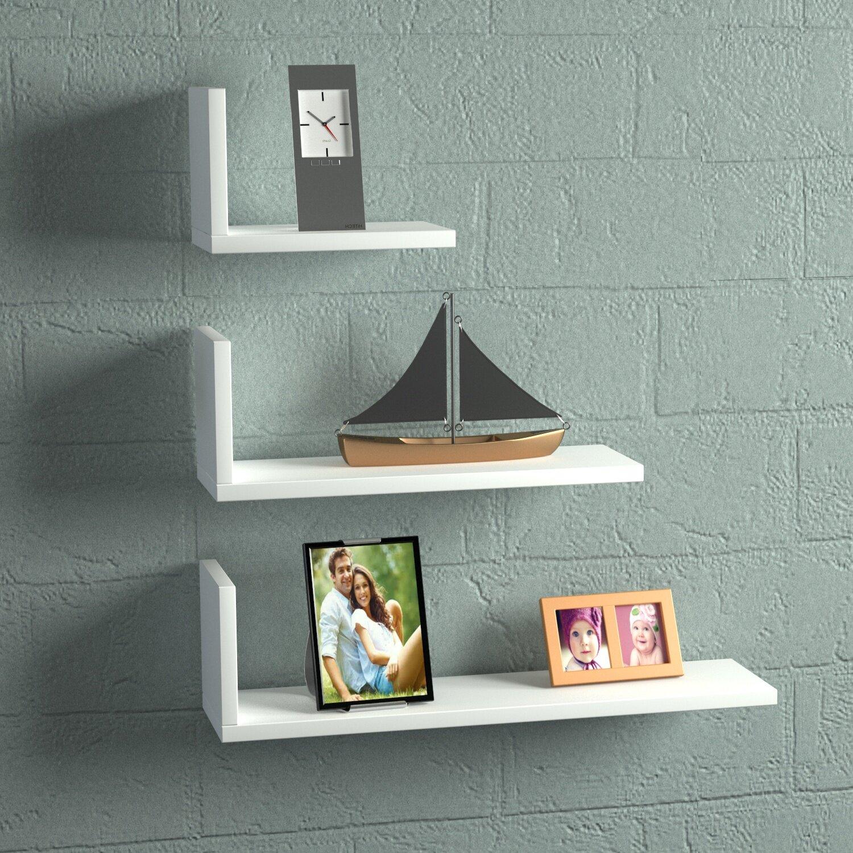 Latitude run hudkins modern floating shelf wayfair