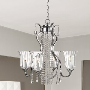Balis 4-Light Shaded Chandelier