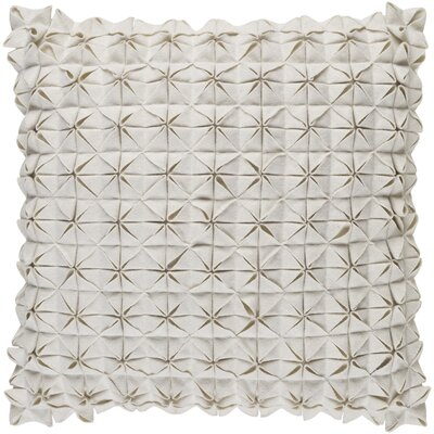 Brayden Studio Ebro Structure 100% Wool Throw Pillow Cover Size: 20 H x 20 W x 1 D, Color: Neutral