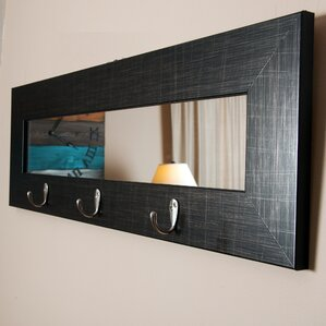 Wall Mirror With Hooks mirror wall hooks & coat racks you'll love | wayfair