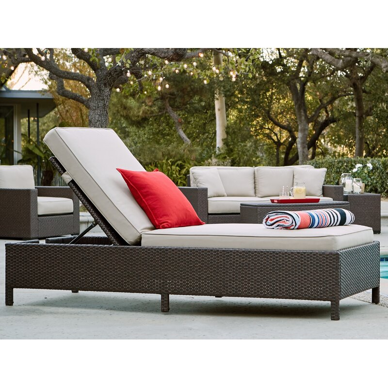 Captivating Laguna Outdoor Storage Chaise Lounge