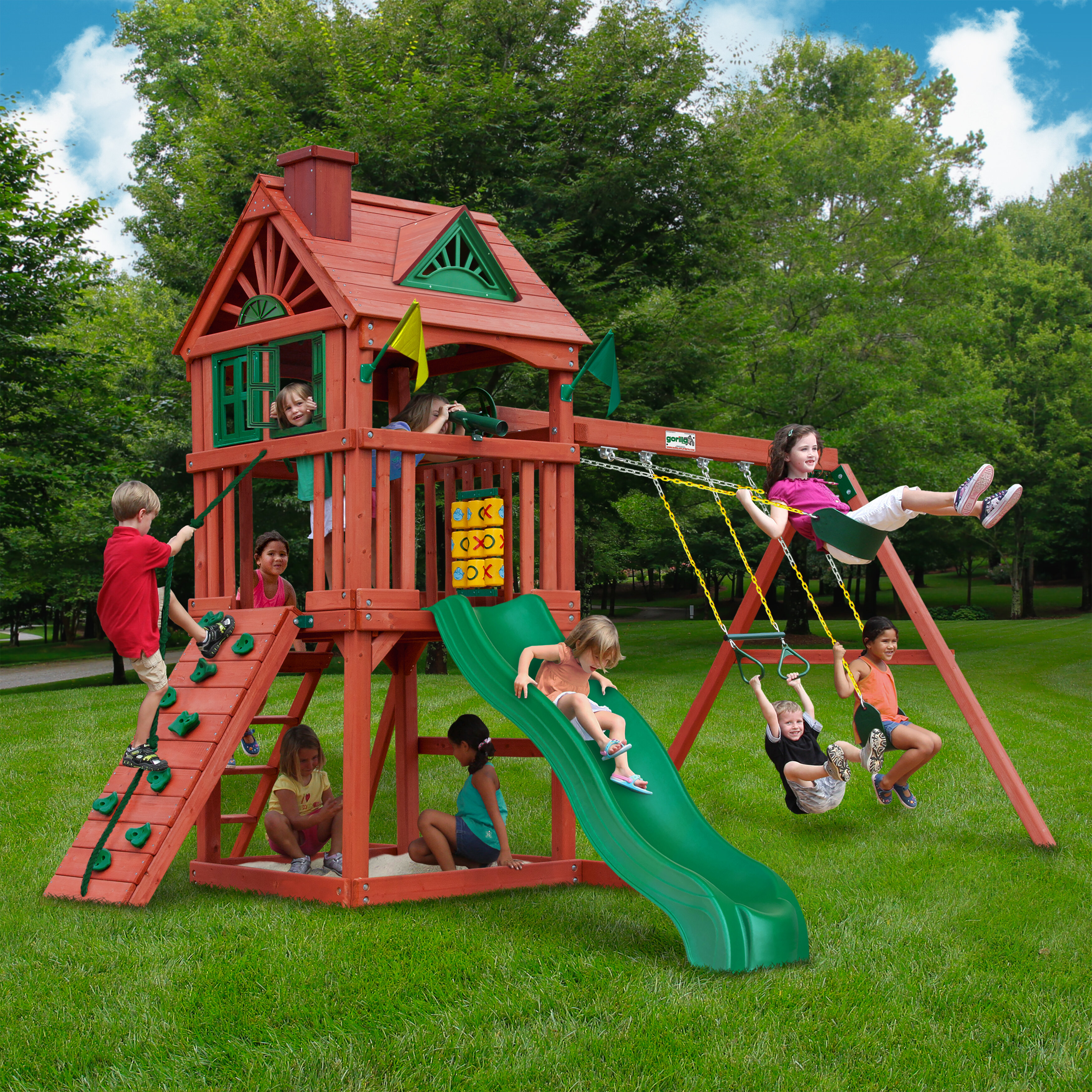 ideas furniture playground wooden playsets kitchen walmart lovely montpelier me ozark playhouse kids appealing costco sale captivating gorilla discovery set sets for cedar swing backyard