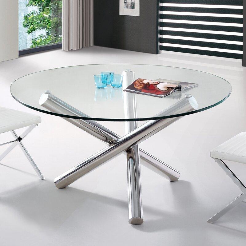 Orren Ellis Clower Modern Round Dining Table & Reviews | Wayfair
