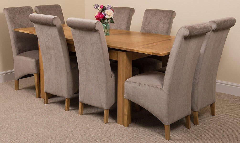 red barrel studio essgruppe vacchiano mit ausziehbarem tisch und 8 st hlen bewertungen. Black Bedroom Furniture Sets. Home Design Ideas