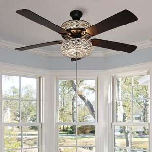 52 Nowthen Double Lit Beaded Braid Wedding Band 5 Blade Ceiling Fan With Remote Control Light Kit Included