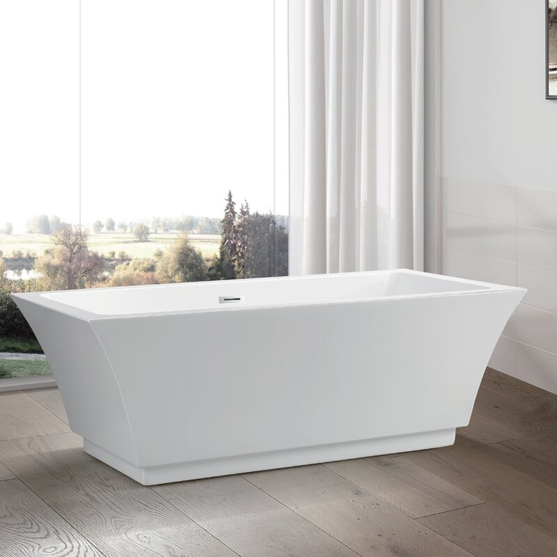 "vanity art 59"" x 29.5"" freestanding soaking bathtub & reviews 