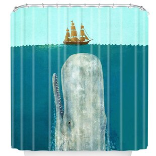 Good The Whale Shower Curtain