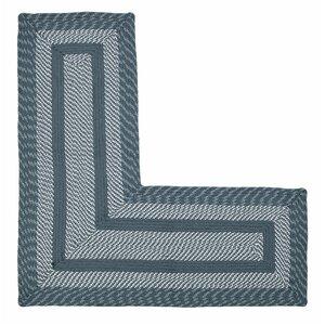 Newport L-Shaped Slate Blue Area Rug