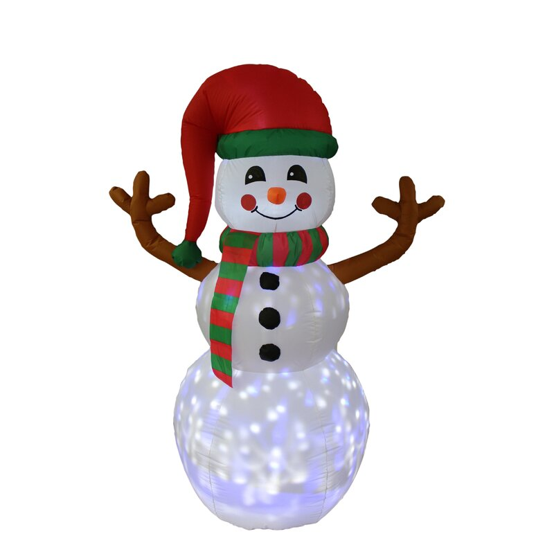 The Holiday Aisle Twinkle Snowman Christmas Inflatable
