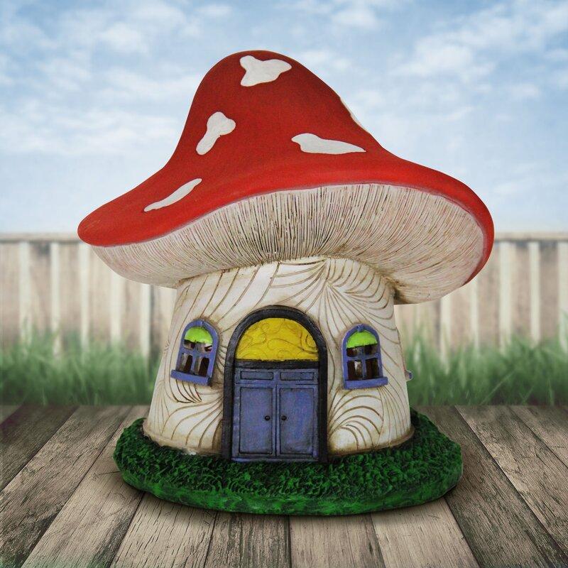 Diggins Solar Mushroom House Fairy Garden