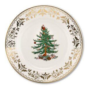 Christmas Tree Gold Salad Plate (Set of 4)