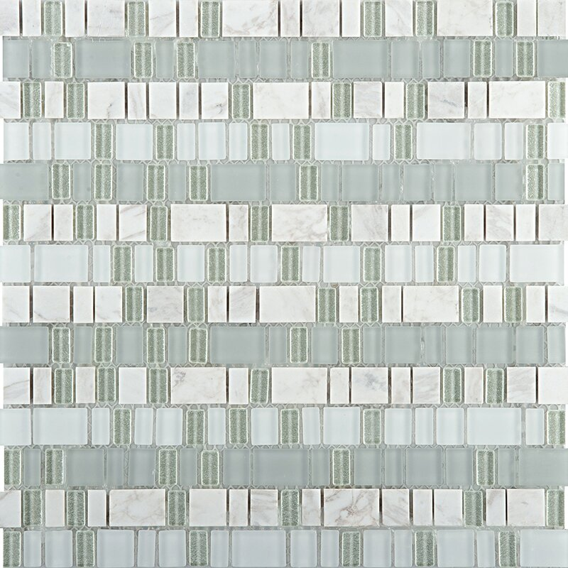 Unique 12 X Gl And Stone Blend Mosaic Tile In Portland