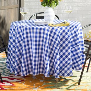 Blue Gingham Kitchen Curtains | Wayfair