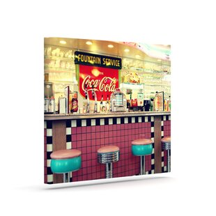 Retro Diner Photographic Print On Canvas