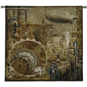 Steampunk BW Tapestry