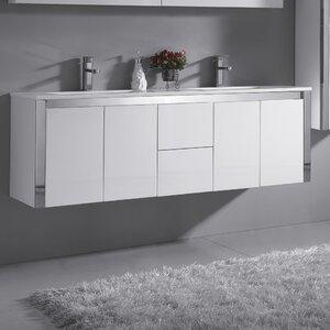 Lelio 59″ Double Bathroom Vanity Set