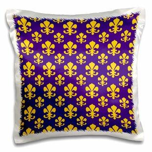 Pierpoint Fleur De Lis Pattern In Lsu Pillow Cover