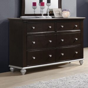 Johnny 6 Drawer Dresser by House of Hampton