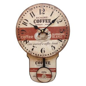 coffee and moving pendulum wall clock - Pendulum Wall Clock