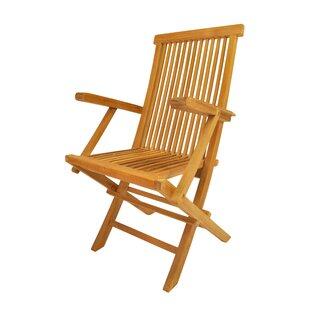Clasic Folding Teak Patio Chair Set Of 2