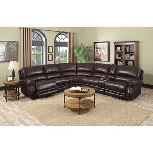 Justin Leather Reclining Sectional  sc 1 st  Wayfair & Reclining Sectionals Youu0027ll Love | Wayfair islam-shia.org