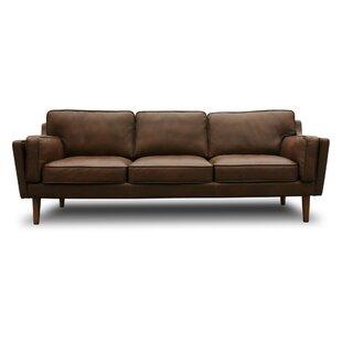 Modern Leather Sofas + Couches   AllModern
