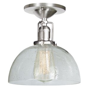 Edgar Bubble 1-Light Semi Flush Mount