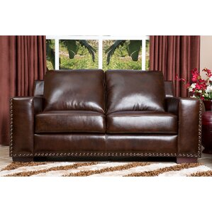 Potsdam Leather Loveseat b..